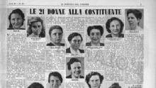 Le Donne dell'assemblea costituente in un ritaglio stampa dell'epoca