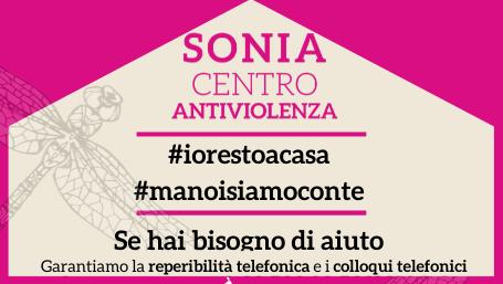 la comunicazione di servizio di Sonia centro antiviolenza (parziale