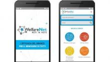 un'immagine di due schermate dell'app