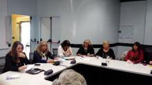 un momento della conferenza stampa a Palazzo Ferro Fini a Venezia