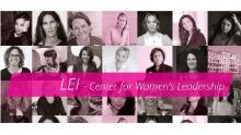 Banner del sito del progetto LEI Center for Women's Leadership di Ca' Foscari Venezia