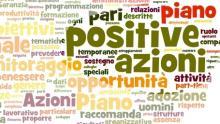 le parole dei piani delle azioni positive (analisi wordle.net)