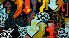 murales con frecce multicolori (foto di annie spratt per unsplash.com)