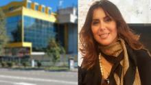 Silvia Cavallarin, sullo sfondo la sede dell'ufficio della consigliera di parità a Mestre