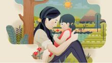 illustrazione mamma con figlia (freepik.com)